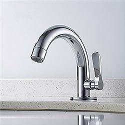 Siderit Poignée simple Laiton robinet de salle de bain wc Lavabo Robinets de lavabo Eau froide pour robinets, finition chrome