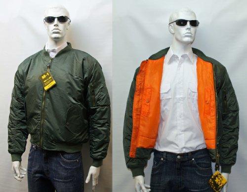 Urban Couture Clothing, Unisex Bomberjacke MA1 - Olive, X-Large