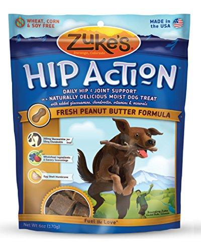 Artikelbild: Zuke Hip Aktion Natural Dog Treats, Frische Erdnussbutter Rezept, 6-Unze
