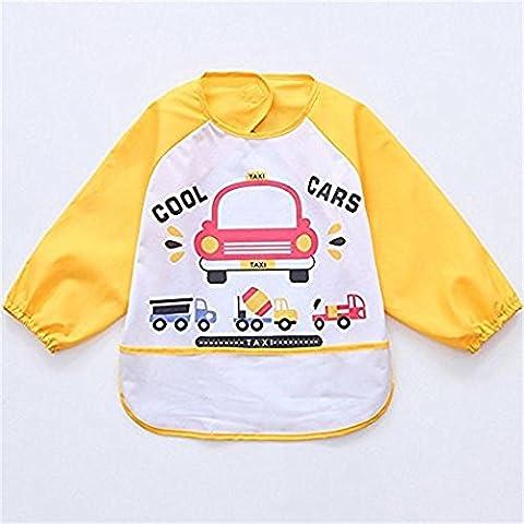 1pcs Oral-q Unisexe Pour enfant Arts Craft Tablier Peinture bébé imperméable Bavoirs avec manches et poche, 6–36mois, Lot de 3