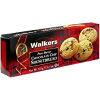 Walkers Shortbread Postre con Chips de Chocolate - 3 Paquetes de 1 x 125 gr - Total: 375 gr
