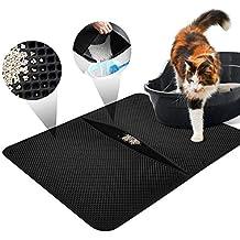 LOETAD Cat Litter Mat Estera de Arena Gato Alfombra de Basura Impermeable Trapping Mat 55 *