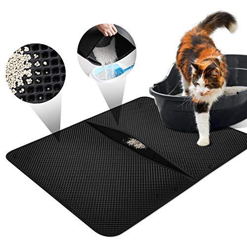 Características:La caja de litera se coloca en la estera de la litera del gato, impermeable, plegable, previene la basura y las omisiones.Especificaciones:➣Material: EVA➣Color: Negro➣Tamaño del producto: 55 * 70 * 0,75 cm➣Tamaño plegado: 55 * 35 * 1,...