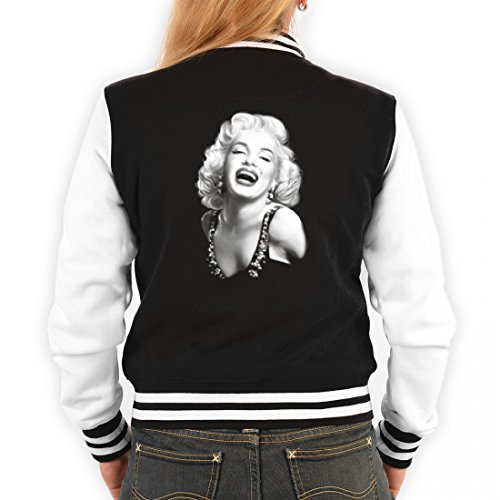 Angesagte USA College Jacke für Damen - Portrait Marilyn Monroe - Cooles Outfit oder Geschenk Idee mit Hollywood Motiv, (Ideen Outfit Monroe Marilyn)