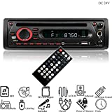 Hi-azul Autoradio, 1 Din In-Dash Car Stereo DC 12V/ 24V Car Radio AUX Audio Player CD Player Unterstützen In-car Karaoke, FM, IR-Fernbedienung, USB/SD, MP3, CD Player (für 24V Fahrzeuge)