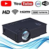 NISHICA UC46-YT WiFi LED HD Projector 1920 x 1080P 2000 Lumens (in Built YouTube)