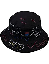 GEMSeven Lettera Graffiti Bucket Hat Fisherman Hats Uomo Donna Estate  Street Dancer Panama Cappello Hip Pop 9ad47acfd993