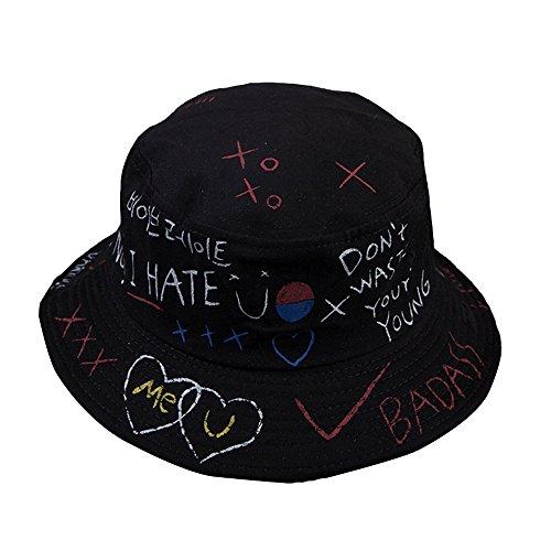 Brief Graffiti Bucket Hut Fischer Hüte Männer Frauen Sommer Street Dancer Panama Hut Hip Pop Hut UV Schutz Sonnenhut