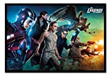 Legends of Tomorrow Team Poster Noir encadré – 96.5 x 66 cms (environ 96,5 x 66 cm)