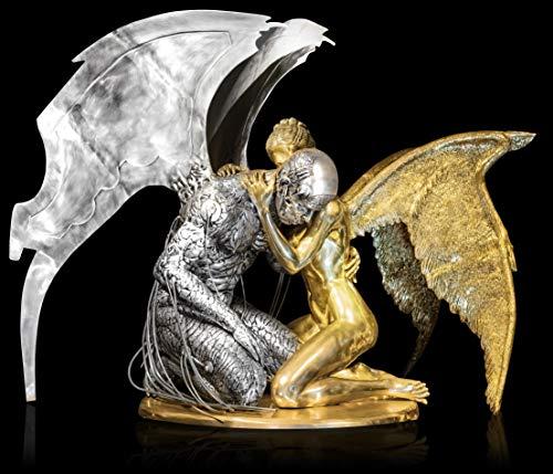 FINE ARTS Wohnkultur Skulptur Bronze Erotik Liebe Akt Figur Statue Metall Engel Riesig Fallen Angel (Engel Statue Bronze)