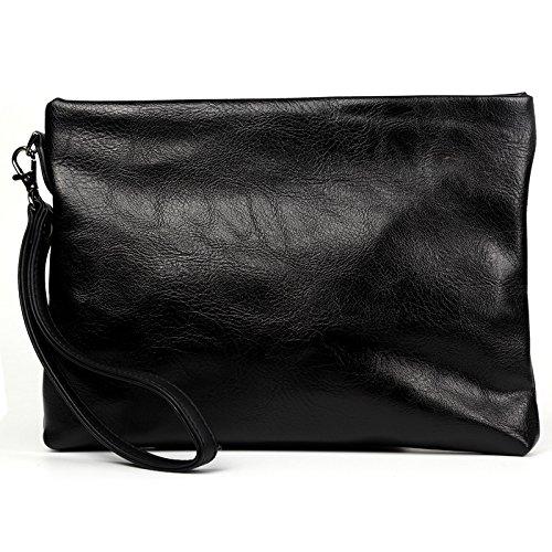 Mefly Die Neue Handtasche Hersteller_Small Business Männer Hand Tasche Fashion Umschläge Hand Geldbörse Tasche Angebot Großhandel Schwarz