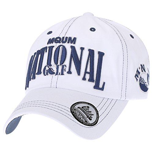 Ililily Cotton 'National Golf' Vintage Trucker Hat Casual Baseball Cap