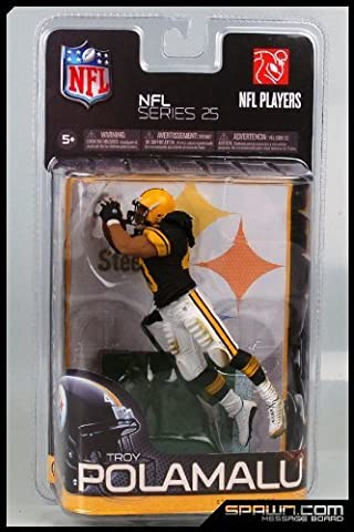 McFarlane Toys NFL Sports Picks Series 25 Exclusive Action Figure Troy Polamalu (Pittsburgh Steelers) Black Jersey Retro Uniform by
