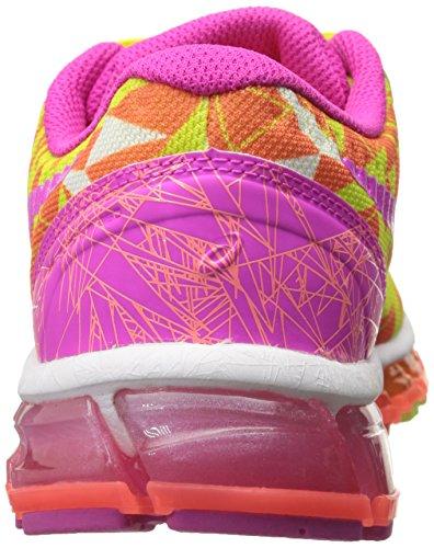 Asics Gel-Quantum 360 GS Synthétique Chaussure de Course Flash Coral-Pink Glow-Flash Yellow