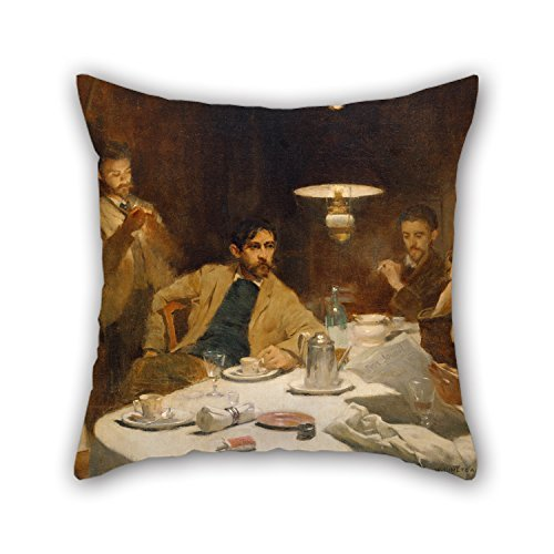 PaPaver Throw Pillow Case Of Oil Painting Willard Leroy Metcalf - The...