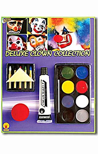 Horror-Shop Clown Make Up Set mit Clownsnase