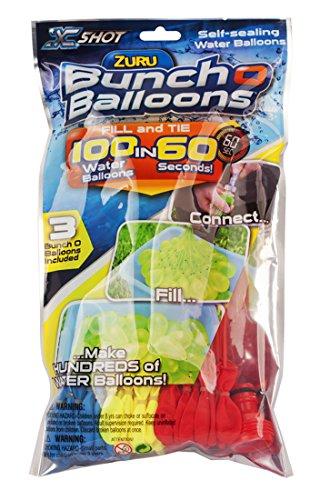 Zuru Bunch O Balloons 100 Wasserbomben mit schnellem Füllsystem 100 in 60 Sekunden Bunch O Ballons 100