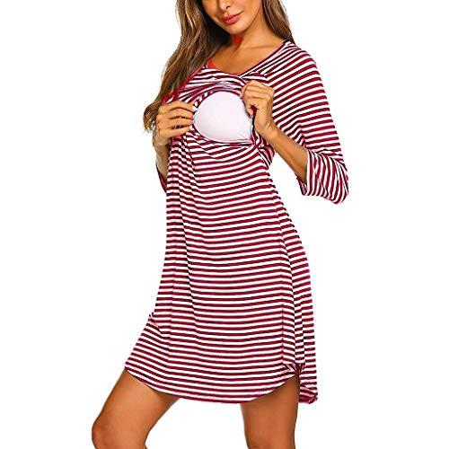 Zebra Skort (Hniunew BH Damen Umstandskleid Sommer Lose Schwangerschaft Kleid Skaterkleid SchöNes Zebra Zebrastreifen Streifen Muster Stillkleid Mutterschafts Kleid Schwangere Stillen Kleid Kurz Kleider)