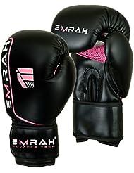 Emrah Mujer Rosa–Guantes de boxeo para MMA–Guantes de almohadillas Kick Muay Thai D