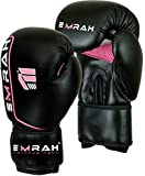 EMRAH Ladies Pink Gel Boxing Gloves Bag MMA Womens Gym Kick Pads Mitts Muay Thai D