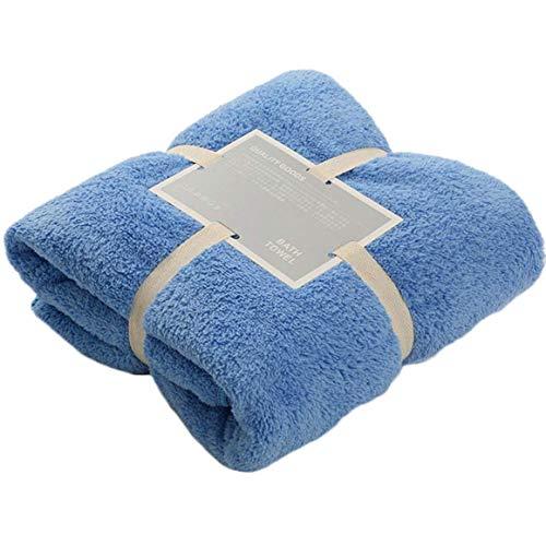 Huangrui Ingenious Große weiche warme Fleece-Kuscheldecke Sofa-Doppel-King-Size-Decke Bettlaken Dekor Kinder Baby Badetuch in feinem Stil blau (Warme King-size-decke)