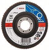 Bosch DIY Fächerschleifscheibe (für Winkelschleifer verschiedene Materialien, gerade Ausführung, Ø 115 mm, Körnung 80)