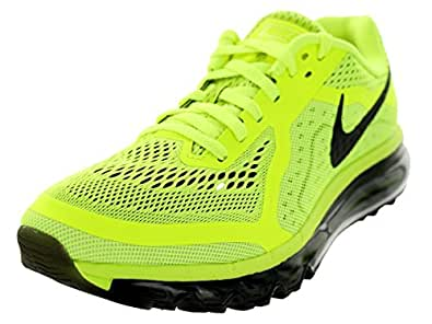 Nike Mens Air Max 2014 Running Shoes Volt / Black / Barely Volt / White 10.5 D(M) US