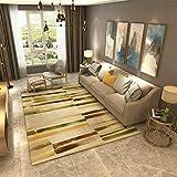 QAQ Teppich Polyester Haarige Weiche Rutschfeste Sofa Couchtisch Wohnzimmer Büro Schlafzimmer Kunst,Bb,200 * 300Cm
