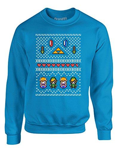 Hyrule Christmas, Kinder Gedrucktes Sweatshirt - Türkis 5-6 Jahre