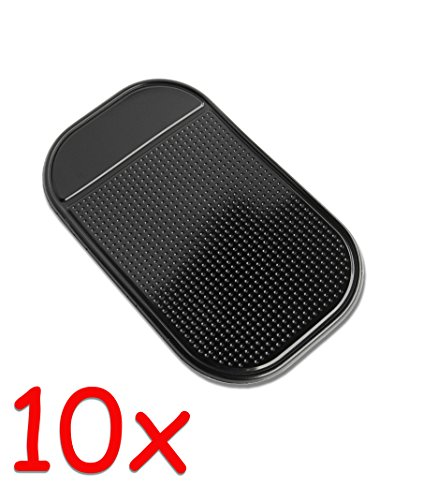 Preisvergleich Produktbild 10x Anti-Rutsch-Matte für Navi, Handy, Smartphone, iPhone Auto KFZ #8001x10P#