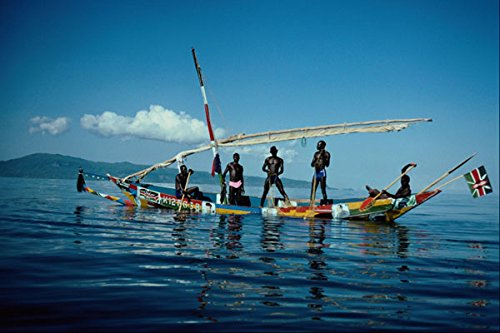794005 Luo Fishing Boat On Lake Victoria Africa A4 Photo Poster Print 10x8
