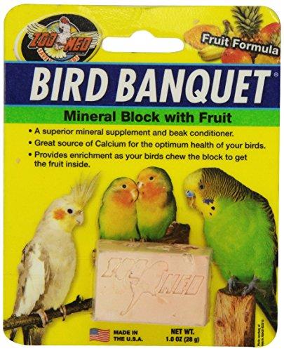 Zoo Med Bird Banquet, Vogelfutter Futterblock, Früchte-Mix, klein 1 x 28 g