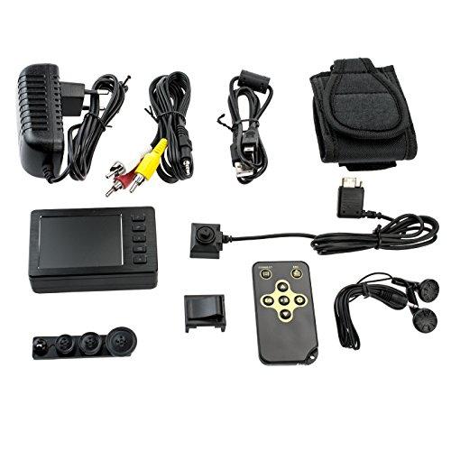 KOBERT GOODS Mini-Überwachungskamera 750P mit tragbarem Mini-HD-Videorecorder Polizei-Body-Cam mit 2,7 Zoll-LCD-Videorecorder für Video- & Fotoaufnahmen mit Ton (inkl. Fernbedienung) - Polizei-videorecorder