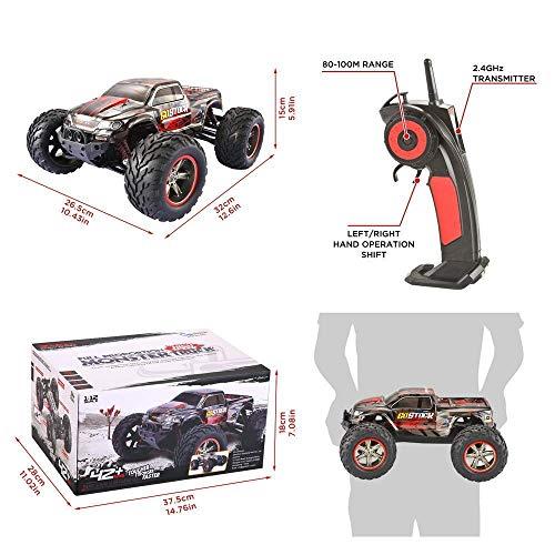 RC Auto kaufen Monstertruck Bild 4: GoStock Ferngesteuertes Auto, 1:12 Skala RC Auto Off Road Elektro Fahrzeug 2.4G Hohe Geschwindigkeit von 42 km/h Alles Gelände Ferngesteuerter Auto für Kinder Draußen*