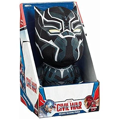Marvel: Guerra Civil cw02818negro pantera de peluche hablando (tamaño mediano)