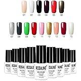 15 Colores de la Esmaltes de Uñas en Gel Permanente Baratos por ESAILQ A