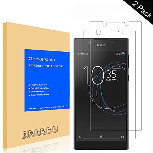GeekerChip Panzerglas Schutzfolie für Sony Xperia L1[2 Stück], Bildschirmschutzfolie Folie Screen Protector Schutzglas für Sony Xperia L1