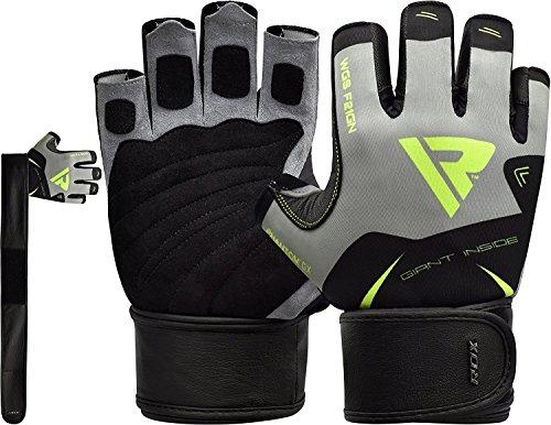 Rdx guanti palestra pelle uomo fitness sollevamento pesi allenamento bodybuilding esercizio pesistica polso
