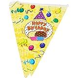 Lot de 2 Drapeaux Party Banners Birthday Party Decor [Cap & gâteau]