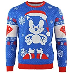 Sonic the Hedgehog Christmas Jumper Ugly Sweater Sonic Gem for Men Women Boys and Girls [Importación alemana]