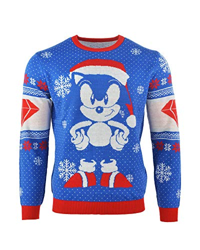 Sonic the Hedgehog Christmas Jumper Ugly Sweater Sonic Gem for Men Women Boys and Girls
