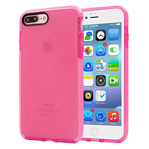 Hülle für iPhone 7 plus , Schutzhülle Für iPhone 7 Plus Basketball Textur Transparente TPU Schutzhülle ,hülle für iPhone 7 plus , case for iphone 7 plus ( Color : Pink ) Pink