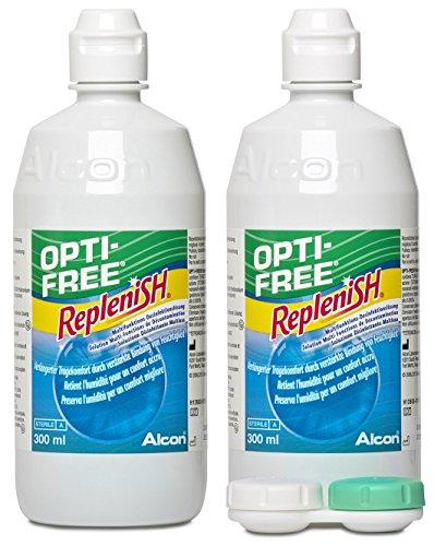 Opti Free Replenish, Kontaktlinsen-Pflegemittel, Vorratspackung 2 x 300 ml - 3
