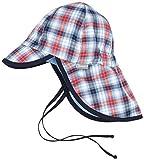 Sterntaler Baby-Jungen Mütze Schirmmütze m. Nackenschutz Blau