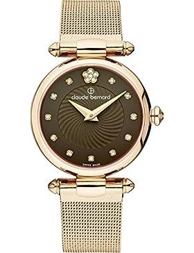 Claude Bernard Wellendesign Damen violett350gr. 175brpr2Kleid Code Analog Display Swiss Quartz Rose Gold Watch