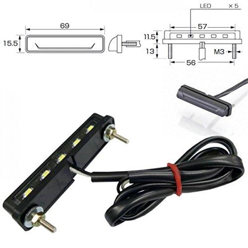 LED-Kennzeichenbeleuchtung Nice schwarz E-geprüft inkl. Halter zur Befestigung von Kennzeichenbeleuchtung Universal Motorrad Roller Nummernschildbeleuchtung Nummernschild