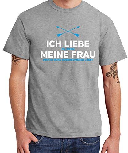 -- Ich Liebe meine Frau ( Bogenschießen ) -- Boys T-Shirt Sports Grey, Größe XL