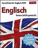 Sprachkalender Englisch Sprachkalender. Tischkalender 2020. Tageskalendarium. Blockkalender. Format 12,5 x 16 cm