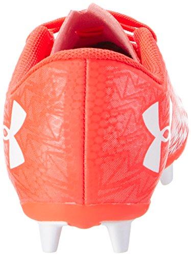 Under Armour Ua Cf Force 3.0 Fg-r Jr, Chaussures de Football Mixte Enfant Rouge (Neon Coral 611)