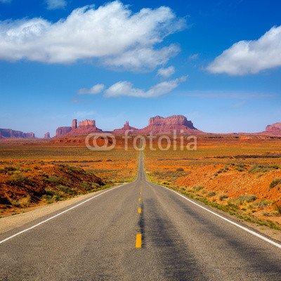 "Alu-Dibond-Bild 100 x 100 cm: ""View from US 163 Scenic road to Monument Valley Utah"", Bild auf Alu-Dibond"